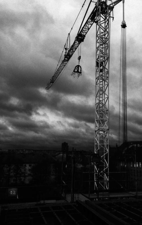 Foto Wolken und Kran
